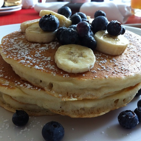 Blueberry And banana Pancakes - Preston's at Loews Hollywood Hotel, Hollywood, CA