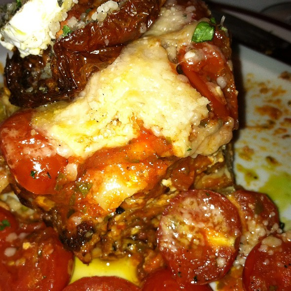 Lasagna With Eggplant Roasted Tomato And Goat Cheese - Bar Americain at Mohegan Sun, Uncasville, CT