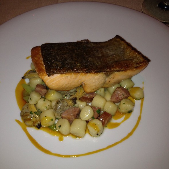 Pan-Seared Steelhead On A Bed Of Gnocchi And Panchetta - RingSide Fish House - Fox Tower, Portland, OR