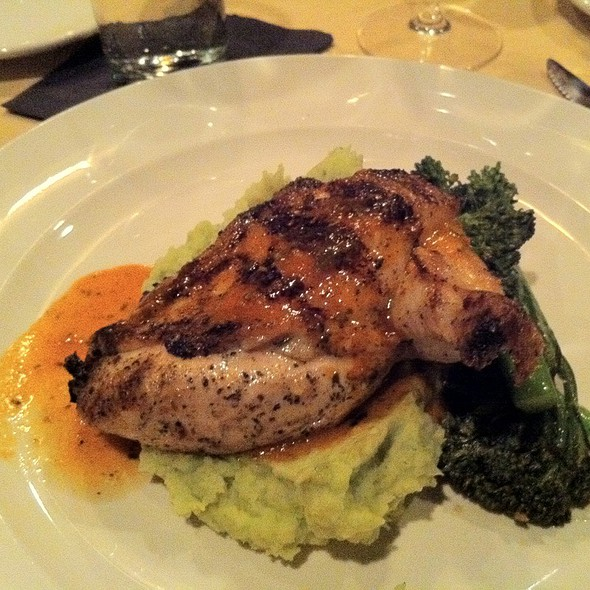 Roast Chicken W/Mashed Pot., Broccolini - The People's Kitchen & Citizen Wine Bar, Worcester, MA