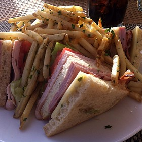 Traditional Club Sandwich - Carbon Beach Club Restaurant (The Dining Room) @ Malibu Beach Inn, Malibu, CA