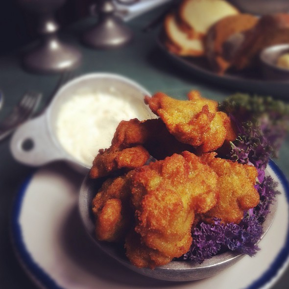 Giant Cornmeal Fried Oysters - City Tavern, Philadelphia, PA