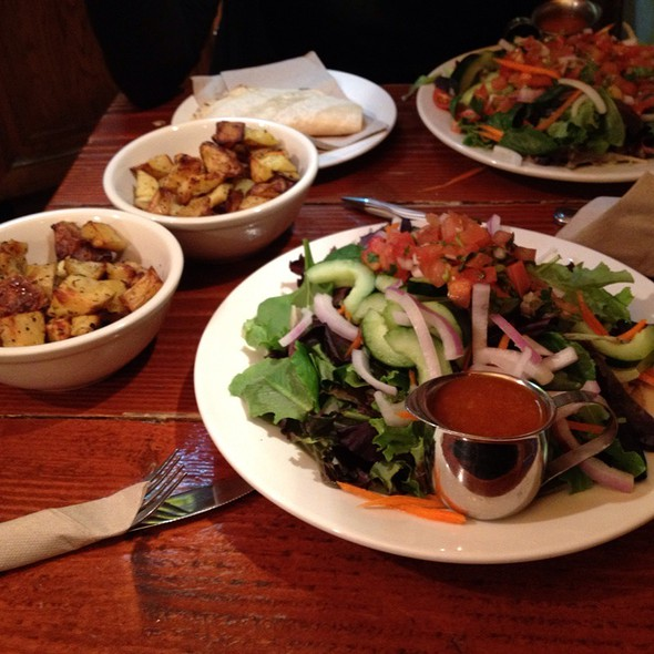 Tostada Salad With Side Of Home Fries - Organic Grill, New York, NY