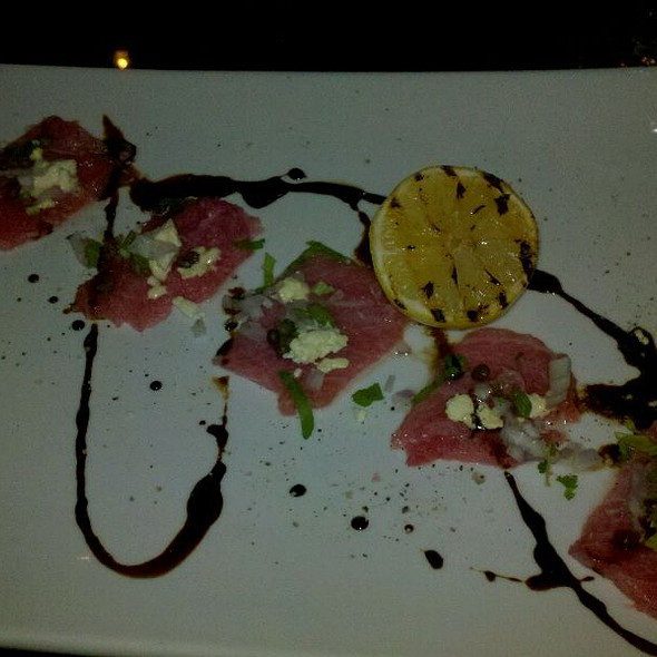 blue fin carpaccio - Eat. An American Bistro, Virginia Beach, VA