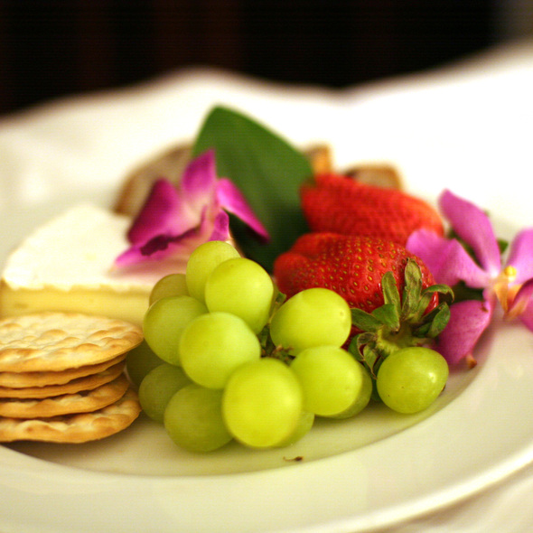Cheese and Fruit Plate - Blue Fire Grill at Omni La Costa Resort & Spa, Carlsbad, CA