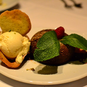Chocolate Lava Cake with Vanilla Ice Cream - Fleming's Steakhouse - Richmond, Richmond, VA