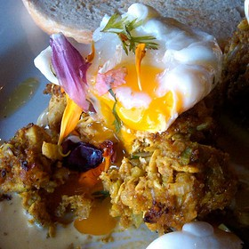 Chicken Curry Cakes - Café 21 - University Heights, San Diego, CA