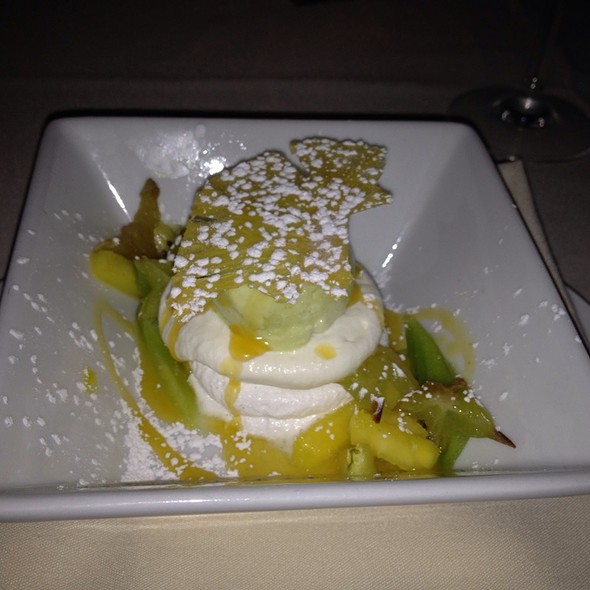 Pavlova With Basil Ice Cream - 701 Restaurant, Washington, DC