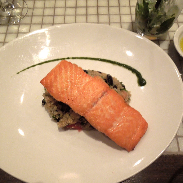 Salmon with Quinoa - Mio Restaurant, Washington, DC