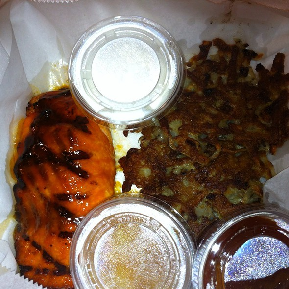 Smoked Salmon And Potato Latkes  - Smokin' Betty's, Philadelphia, PA