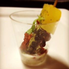 Smoked Octopus With Compressed Pineapple And Crispy Speck.  - Steak 954 at the W Fort Lauderdale, Fort Lauderdale, FL