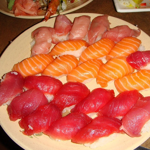 Toro, Salmon, & Ahi Sashimi....Ooooooooh! - Nakama Japanese Steakhouse & Sushi Bar, Pittsburgh, PA
