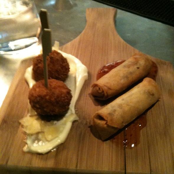 Truffle Arancini And Vegetable Spring Rolls - Ritz Bar - Ritz Carlton Toronto, Toronto, ON