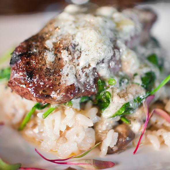 flat iron steak - Back Bistro, Folsom, CA