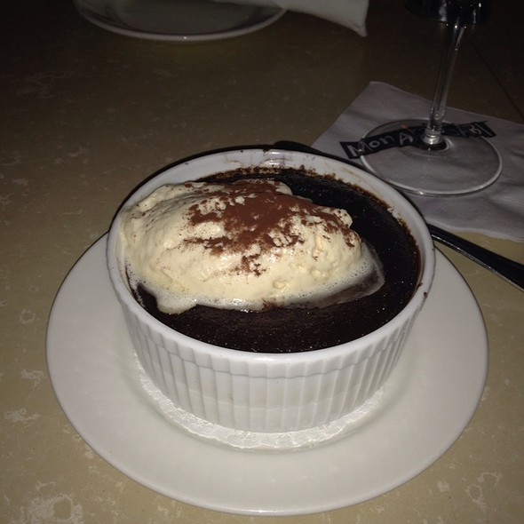 Chocolate Pudding Cake With Salted Caramel Cream - Mon Ami Gabi - Reston, Reston, VA