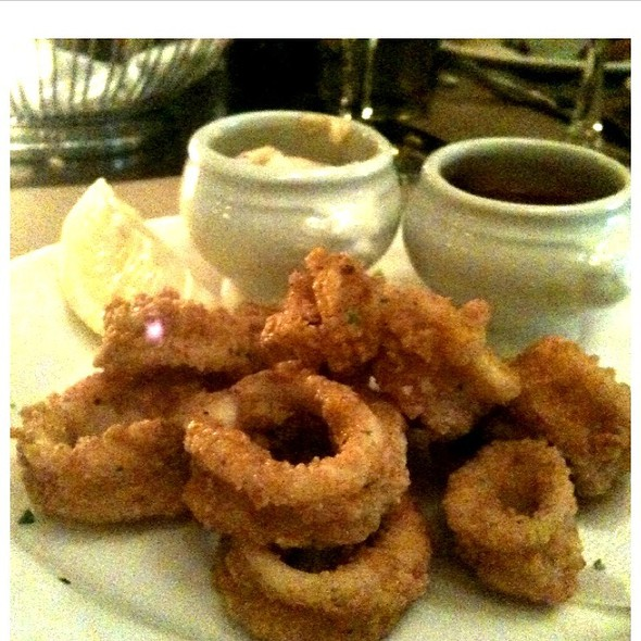 Crispy Calamari With Saffron Aioli - Cafe Un Deux Trois, New York, NY