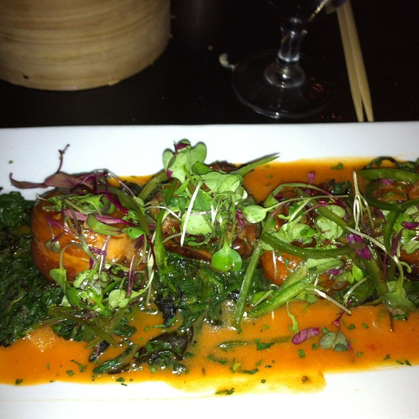 Grilled scallops wrapped in bacon - Teak on the Hudson, Hoboken, NJ