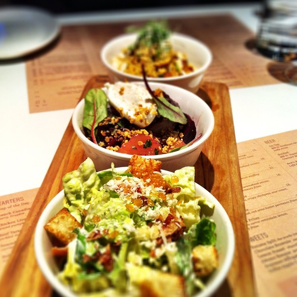 Trio Of Salads - O&B Canteen, Toronto, ON