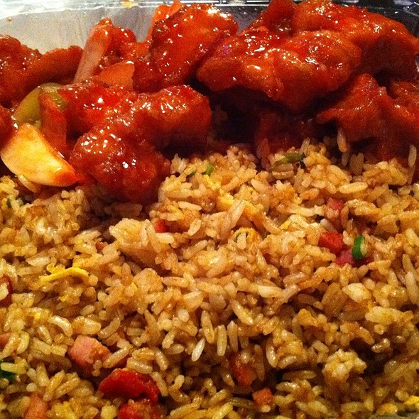 Chinese fried chicken with rice
