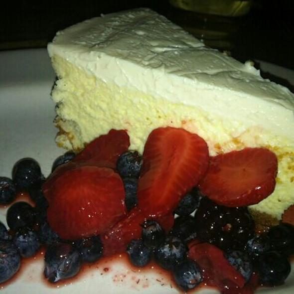 Marscapone Cheesecake - Trattoria Lisina, Driftwood, TX