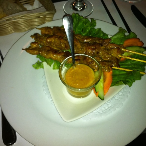 Chicken satay - Sante Restaurant, Ottawa, ON