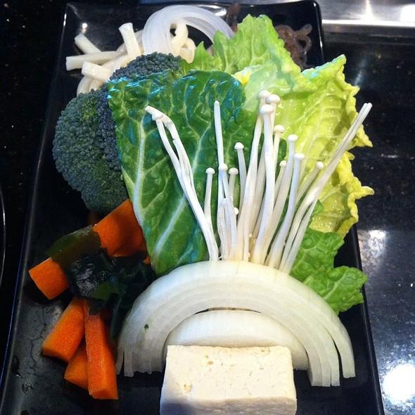 Mixed Vegetables and Tofu - Yojie Japanese Fondue and Sake Bar, Los Angeles, CA