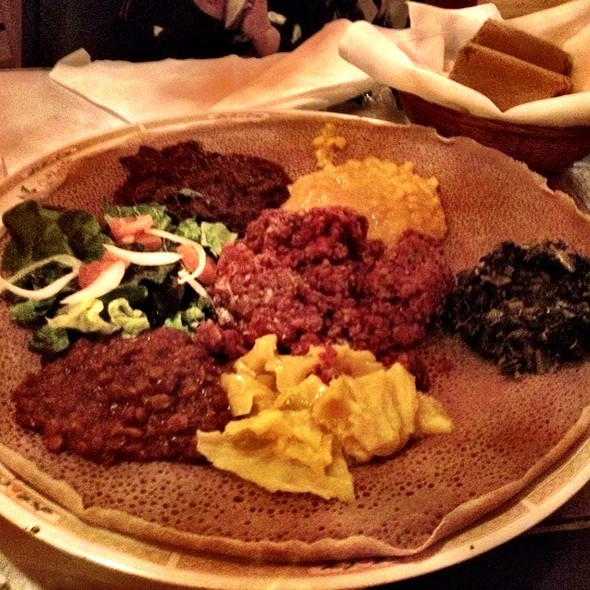 Meats And Veggies platter - Ethiopia Restaurant, Berkeley, CA