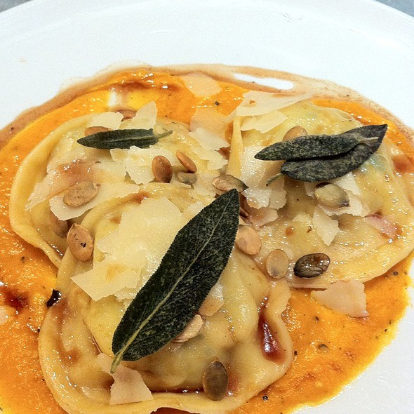 Pumpkin Ravioli With Burnt Sage Butter - FIG & OLIVE Meatpacking, New York, NY