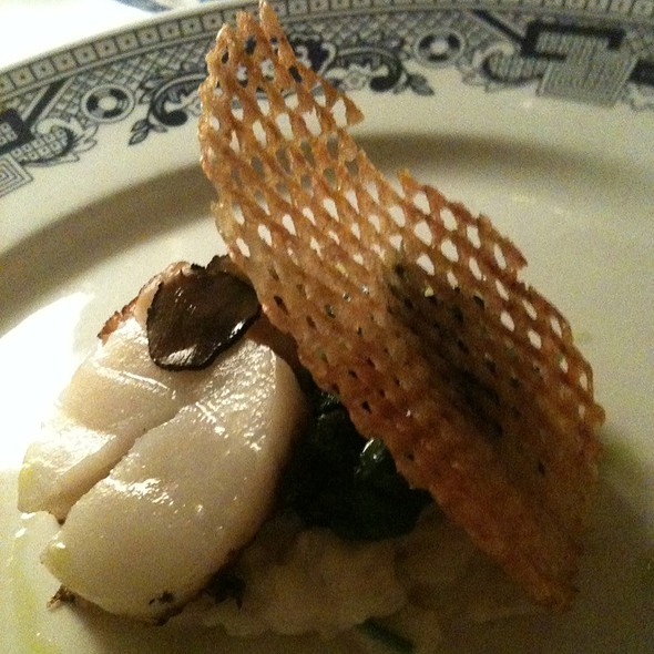 Pan Seared Scallops With Spinach & Truffled Risotto  - The Red Lion Inn, Stockbridge, MA