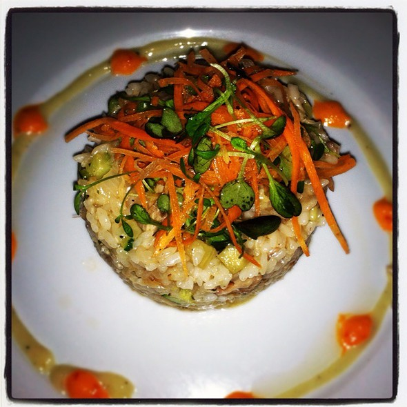 Risotto W Rabbit Confit & Winter Squash - Terramia, Boston, MA
