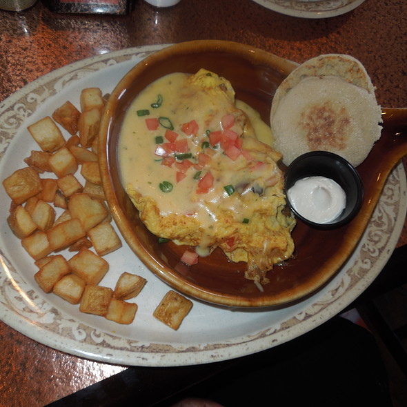 Crawfish and andouille omelet - Superior's Steakhouse, Shreveport, LA