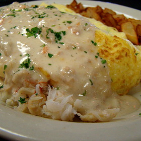 King Crab Omelet - Gulfstream Cafe, Garden City, SC