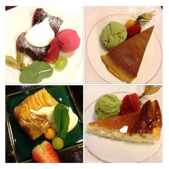 Apple Clafoutis, Tofu Cheesecake, Pumpkin Creme Brulee, Chocolate Cake - SO Restaurant, London