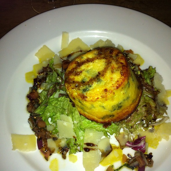 Goats Cheese And Spinach Souffle - The Exhibition Rooms, London
