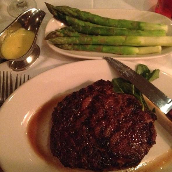 """Smaller Size"" Ribeye & Steamed Asparagus - Morton's The Steakhouse - Honolulu, Honolulu, HI"