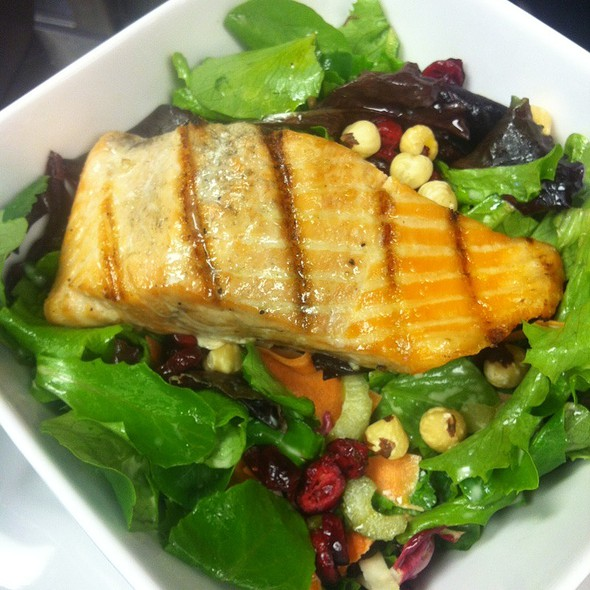 Whole Meal Salad With Grilled Salmon For Lunch - Waterfront Kitchen, Baltimore, MD