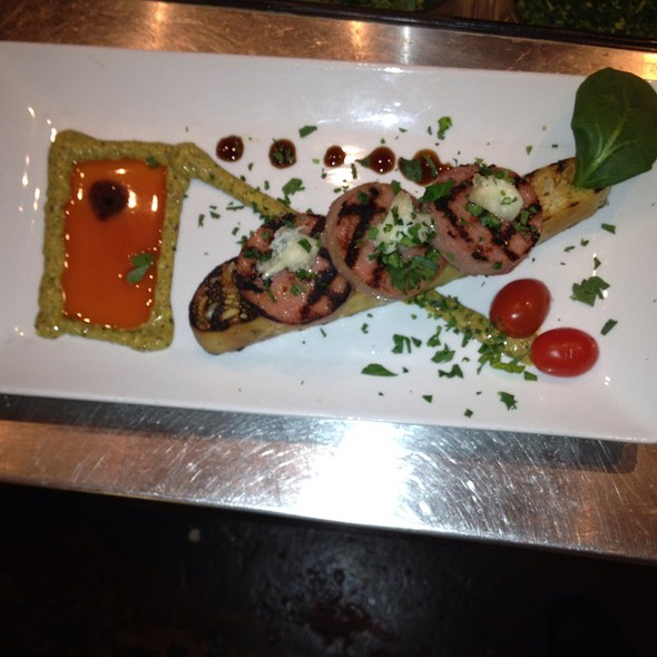 Grilled Mortadella With Rosemary Maple Mustard - Basi Italia, Columbus, OH