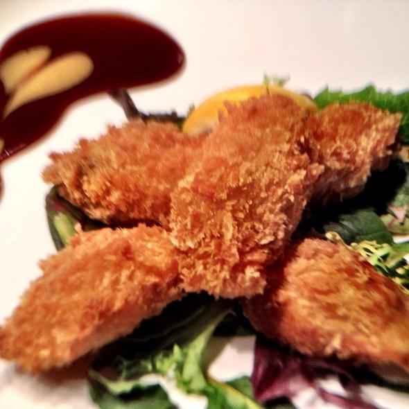 fried oysters - Sushi Damo, New York, NY