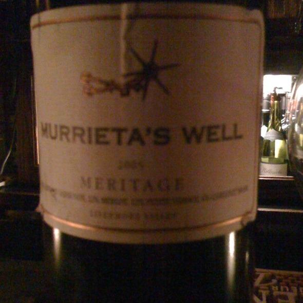 Murrieta's Well Meritage 2005 - Vero Uptown, New York, NY