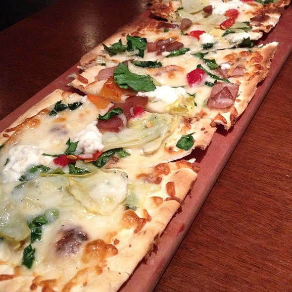 Artichoke Goat Cheese Flatbread - Seasons 52 - Indianapolis, Indianapolis, IN