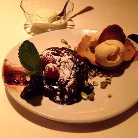 Molten Chocolate Lava Cake - Fleming's Steakhouse - Nashville, Nashville, TN