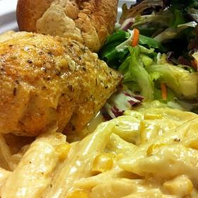 Crab Stuffed Tilapia With Cajun Pasta - Sam & Rosco's Restaurant, Douglasville, GA