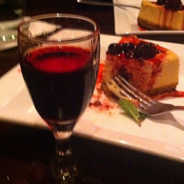 Dulce De Lache Cheesecake With A Nice Glass Of Port For Dessert - Paladar Latin Kitchen & Rum Bar, Annapolis, MD