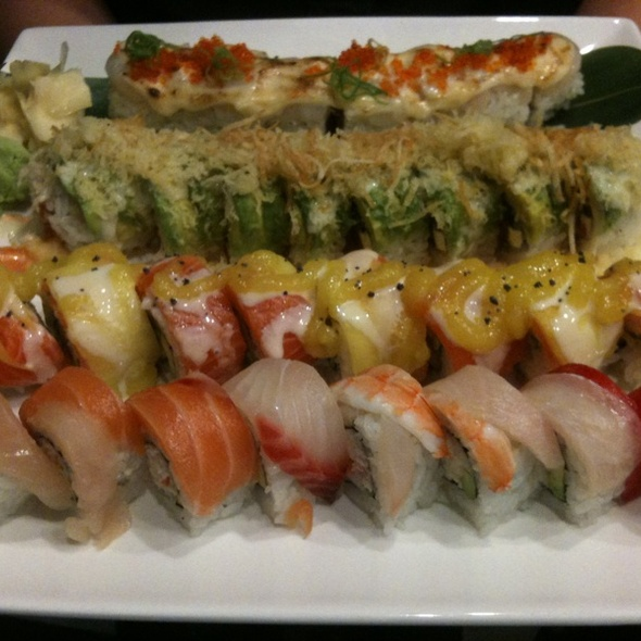 Rolls: Lion King, Boss, Mango, Seahwaks Roll - SuBi Japanese Restaurant, Bainbridge Island, WA