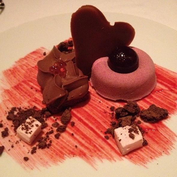 Raspberry And Dark Chocolate Love - CinCin Ristorante + Bar, Vancouver, BC