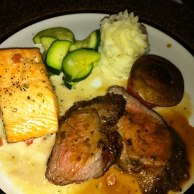 Beef and Salmon - The Refectory Restaurant & Bistro, Columbus, OH