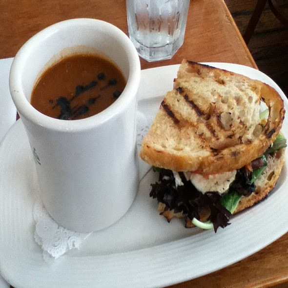 Grilled Portabello Sandwich - Cru Cafe, Charleston, SC