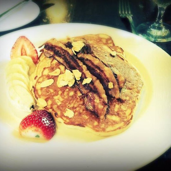 Pear and pineapple pancakes - North Square, New York, NY