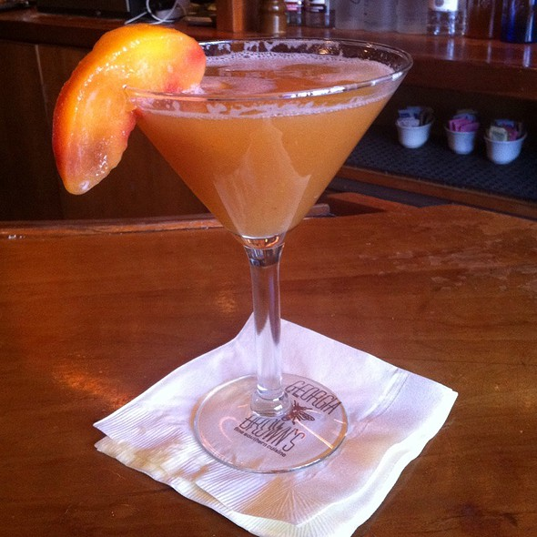 Peach martini - Georgia Brown's, Washington, DC