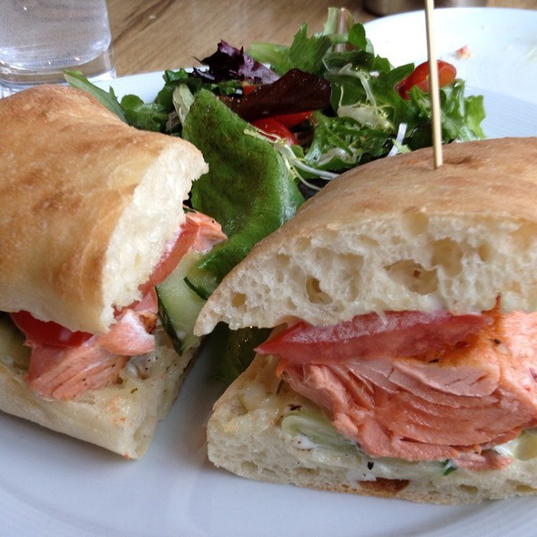 Wild Salmon Sandwich - Purple Cafe and Wine Bar - Bellevue, Bellevue, WA